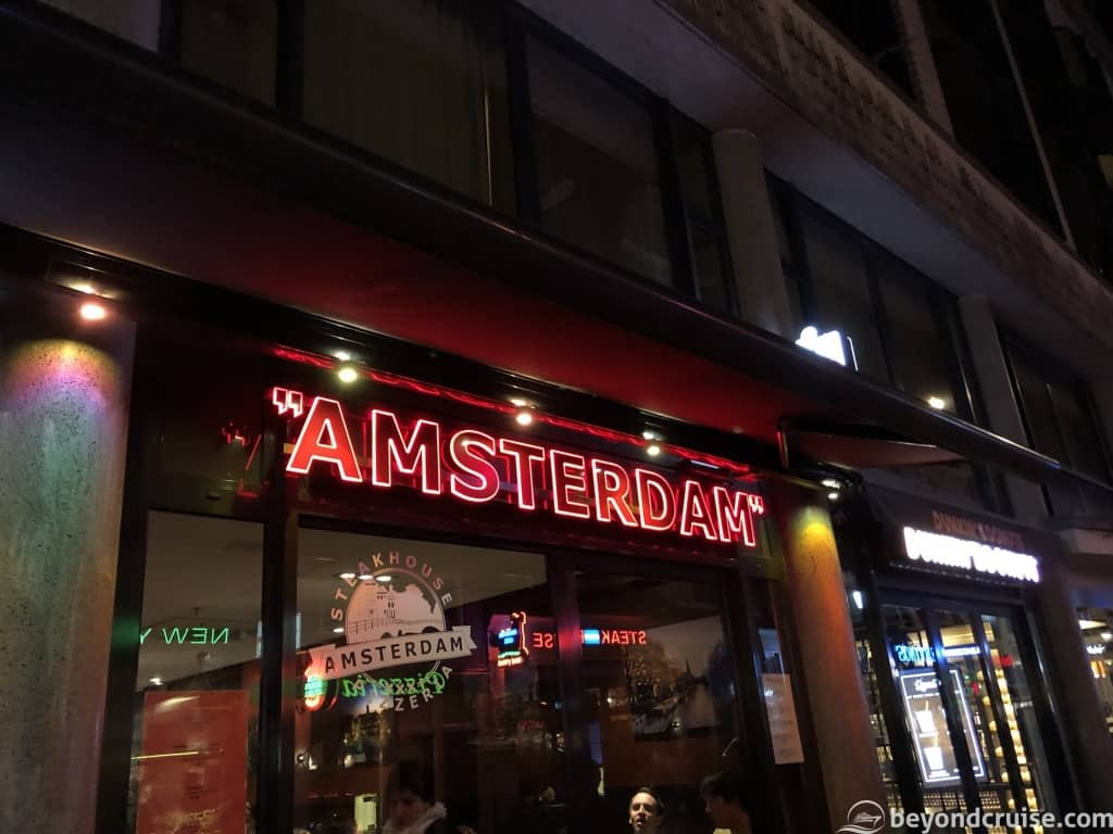Amsterdam at night sign