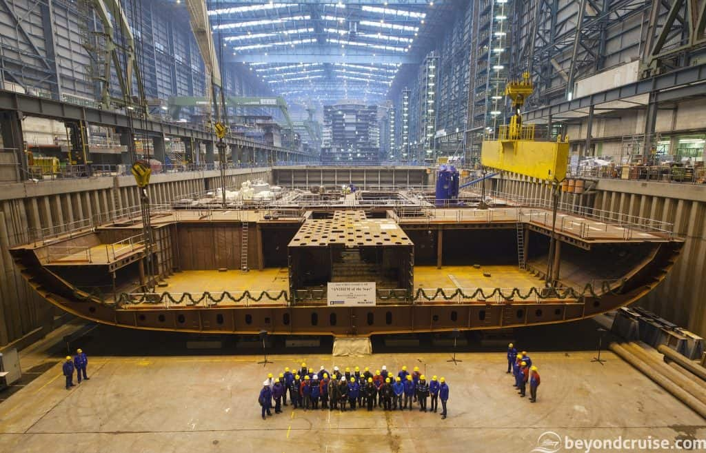 Anthem of the Seas keel-laying