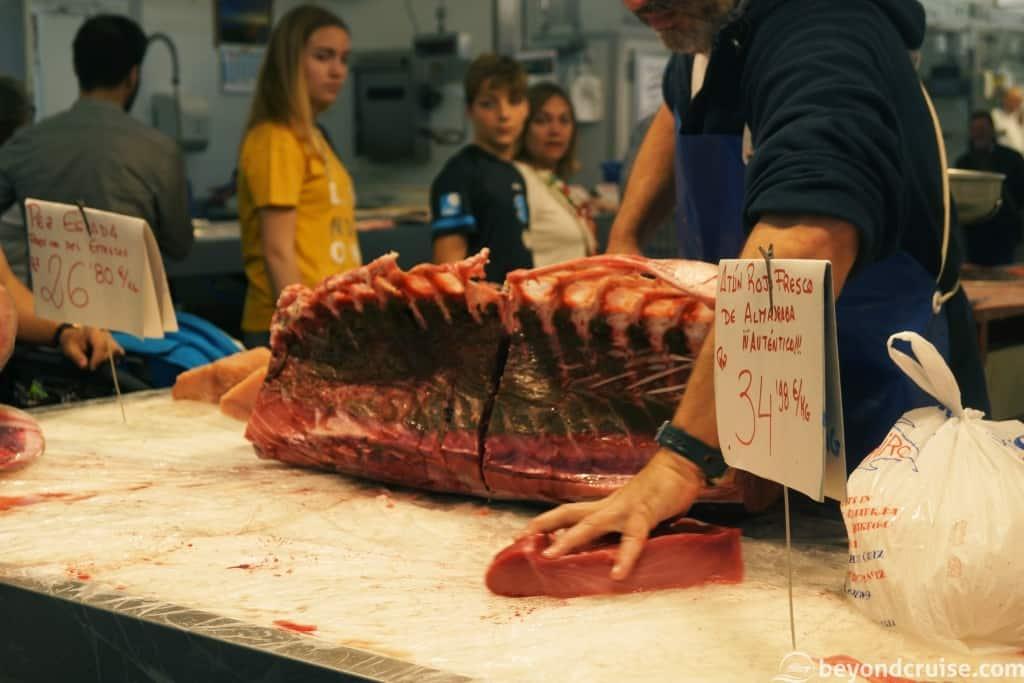 Cadiz food market - fresh tuna