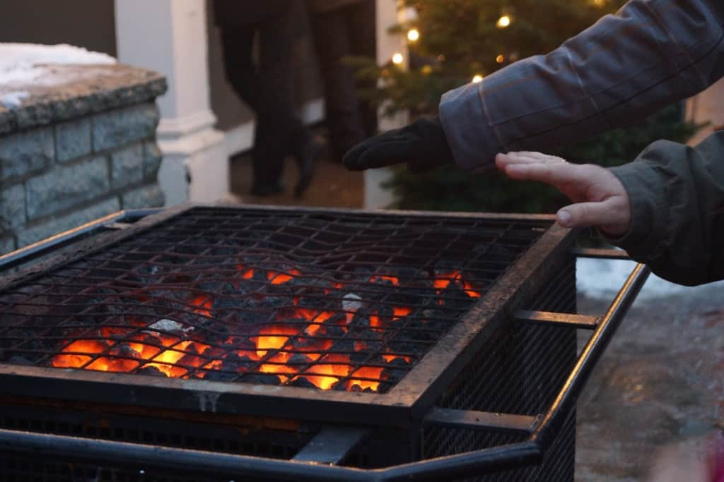 Open fires are common at European Christmas markets to warm your hands!
