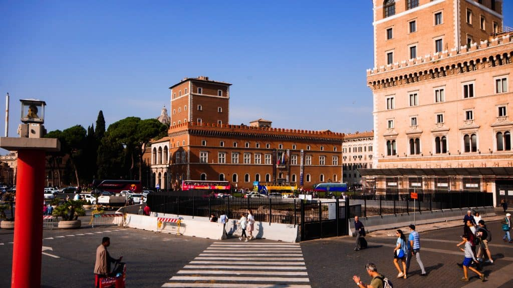 Rome - Mussolini Balcony as seen across Venice Square