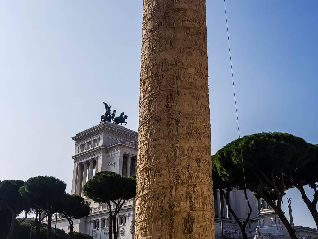 Rome - Trajan's Column scriptures
