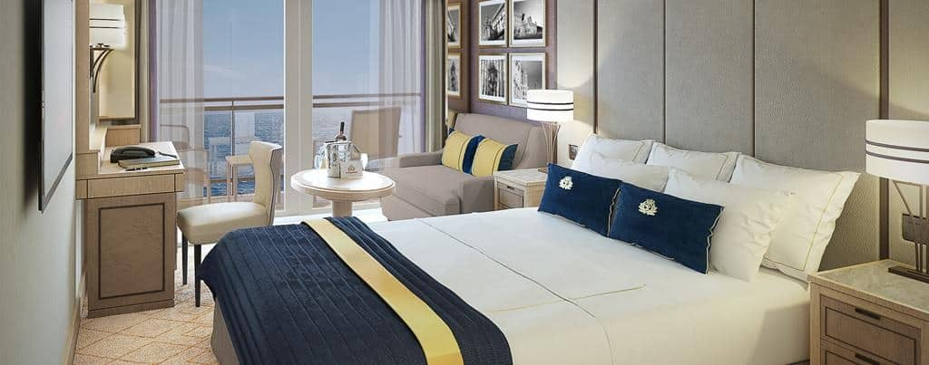Queen Mary 2 - Remastered Britannia Club Balcony stateroom