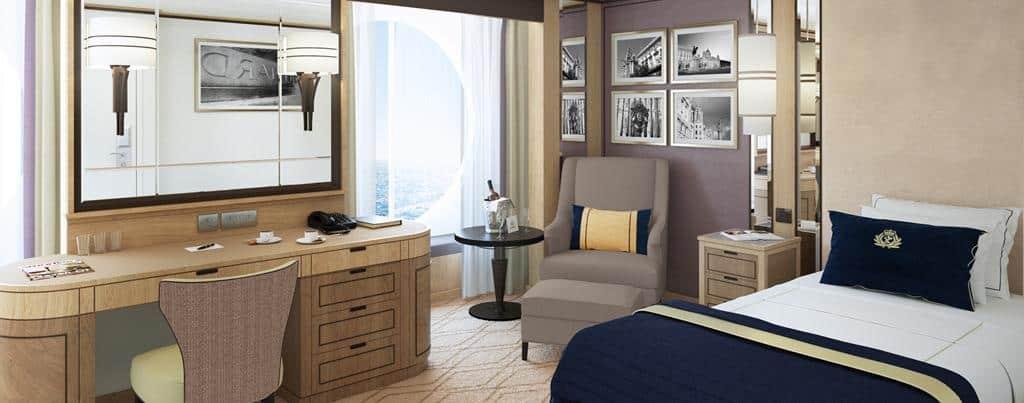 Queen Mary 2 - Remastered Britannia Single Oceanview stateroom