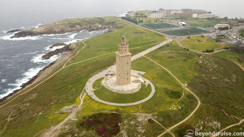 La Coruna - Tower of Hercules from the air