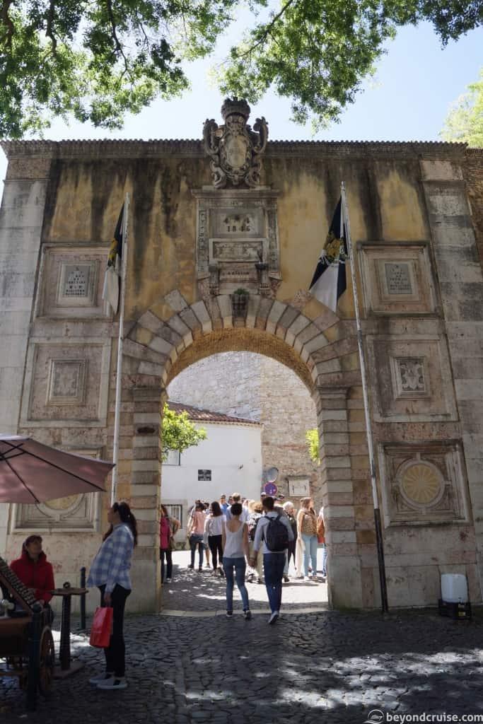 Lisbon Castelo de Sao Jorge Archway