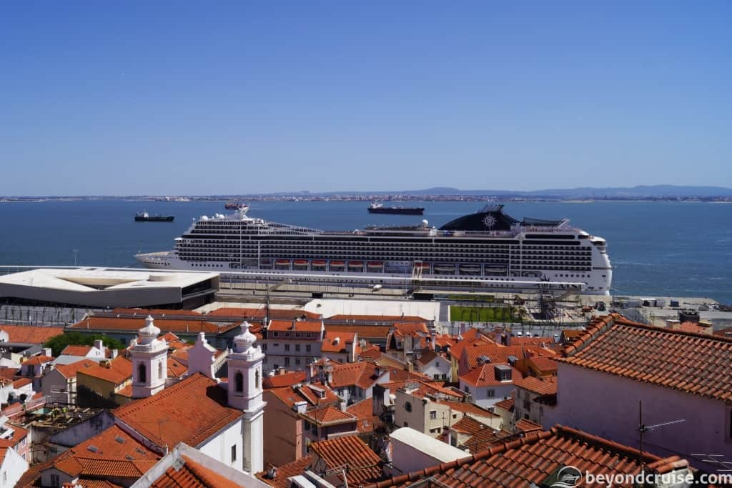 MSC Magnifica at the Port of Lisbon, Portugal