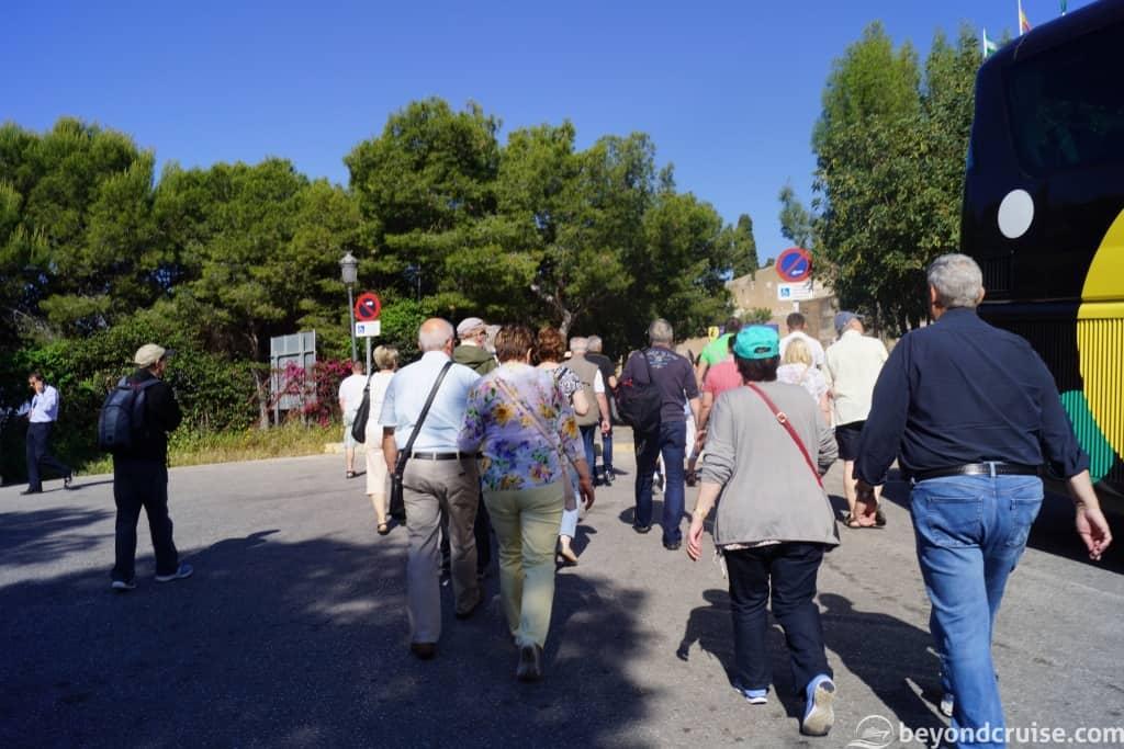 Malaga MSC Cruises excursion city tour group