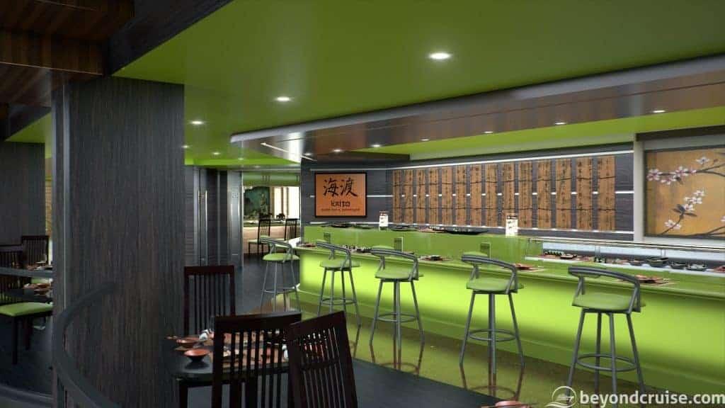 MSC Bellissima - Kaito Sushi Bar (render)