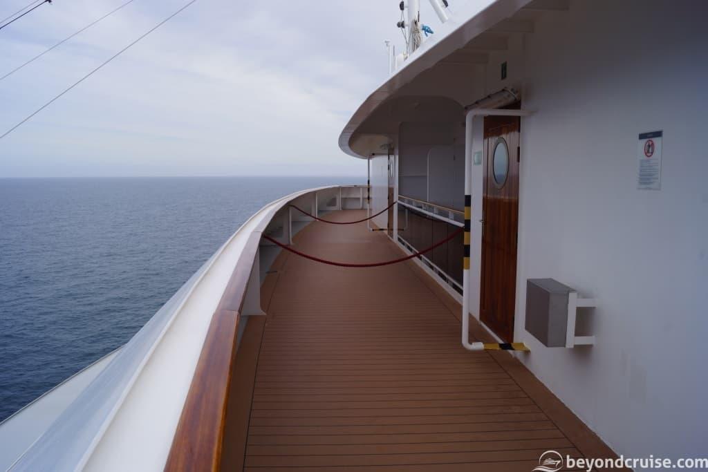 MSC Magnifica Deck 15 forward balcony