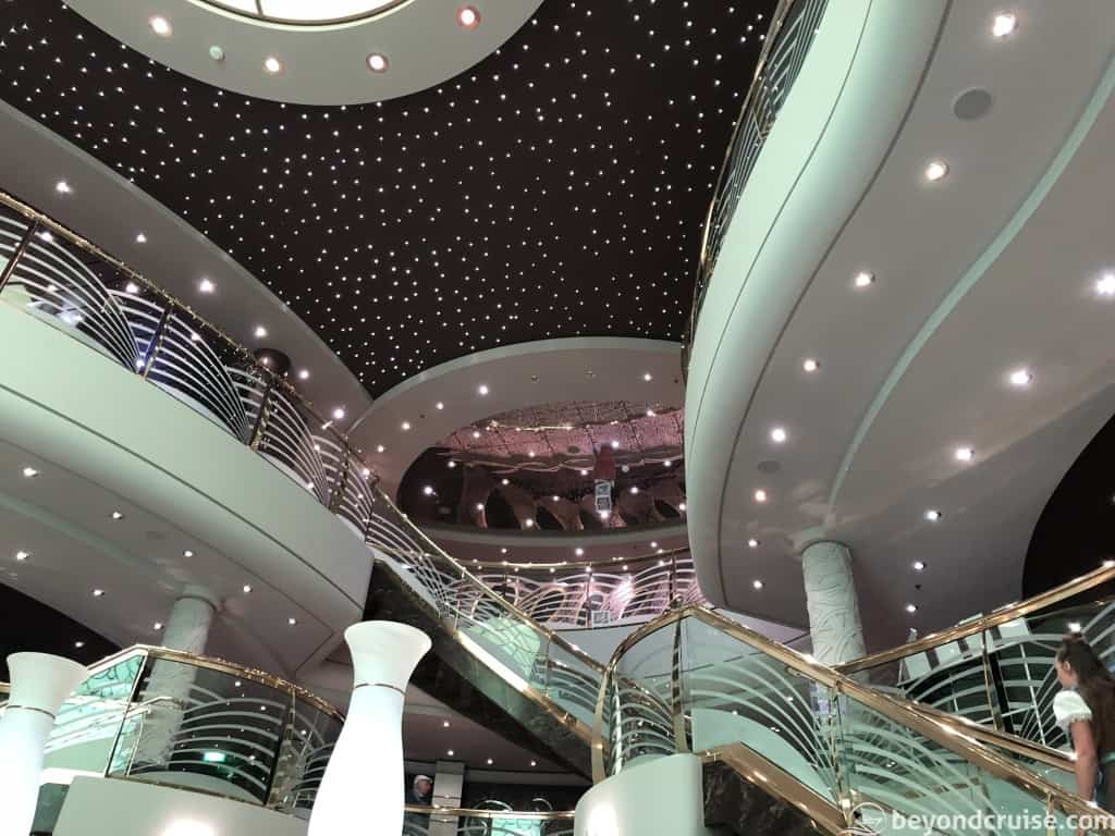 MSC Magnifica Grand lobby ceiling