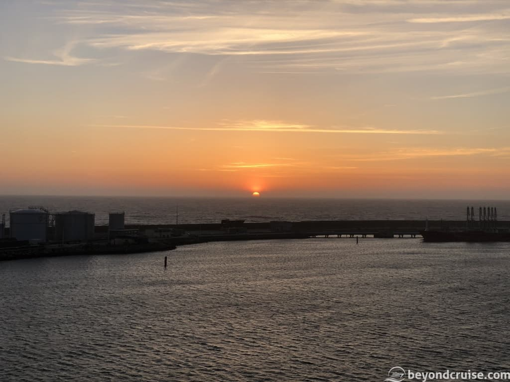 Sunset in Port of Leixoes