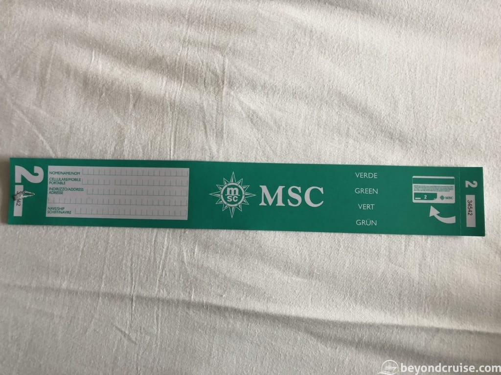 MSC Magnifica luggage tags