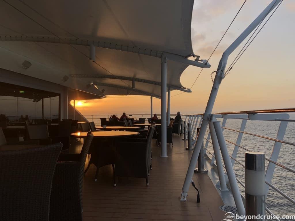 MSC Magnifica Malaga sailaway sunset