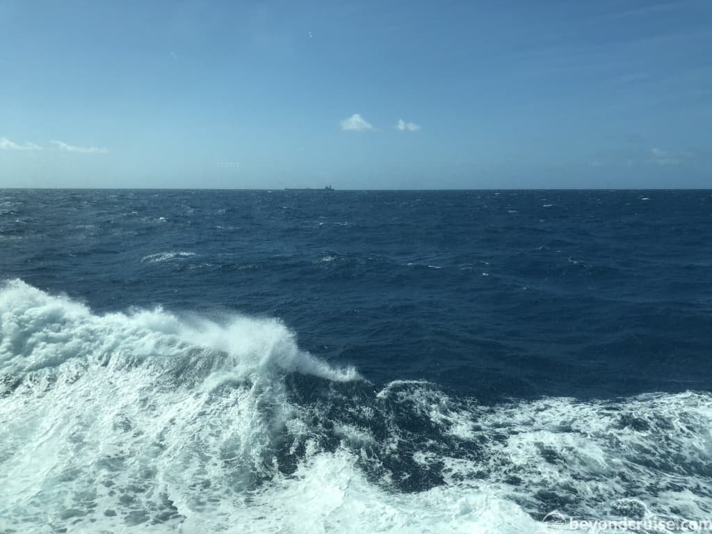 MSC Magnifica - view of the Bay of Biscay