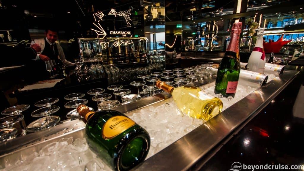MSC Meraviglia Champagne Bar Deck 7