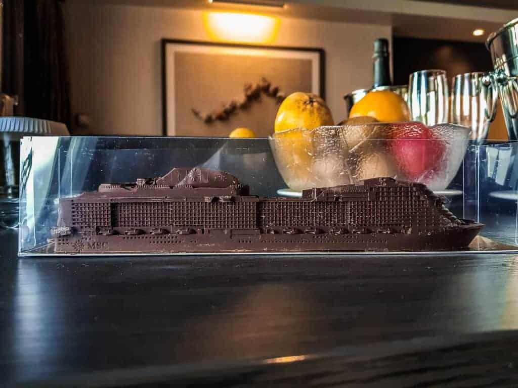 MSC Meraviglia chocolate ship!