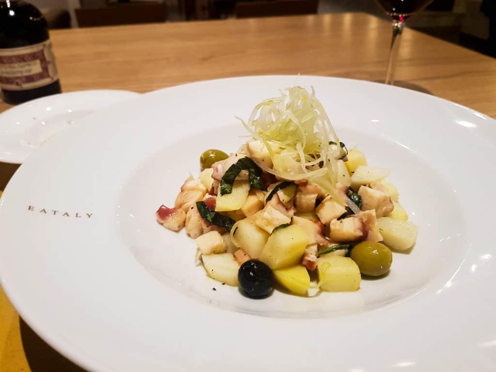 MSC Meraviglia, Eataly Food Market – Octopus Salad