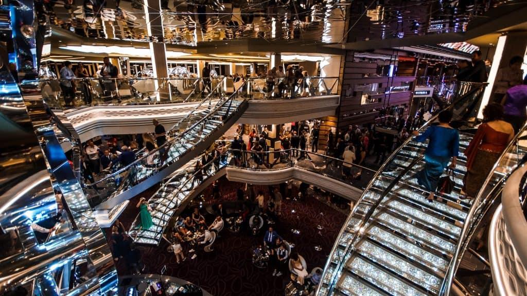 MSC Meraviglia Gala night atrium