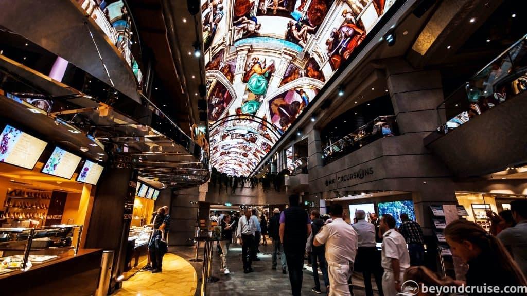 MSC Meraviglia - Indoor promenade on Deck 6