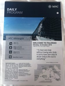 Daily Program cover for Palermo