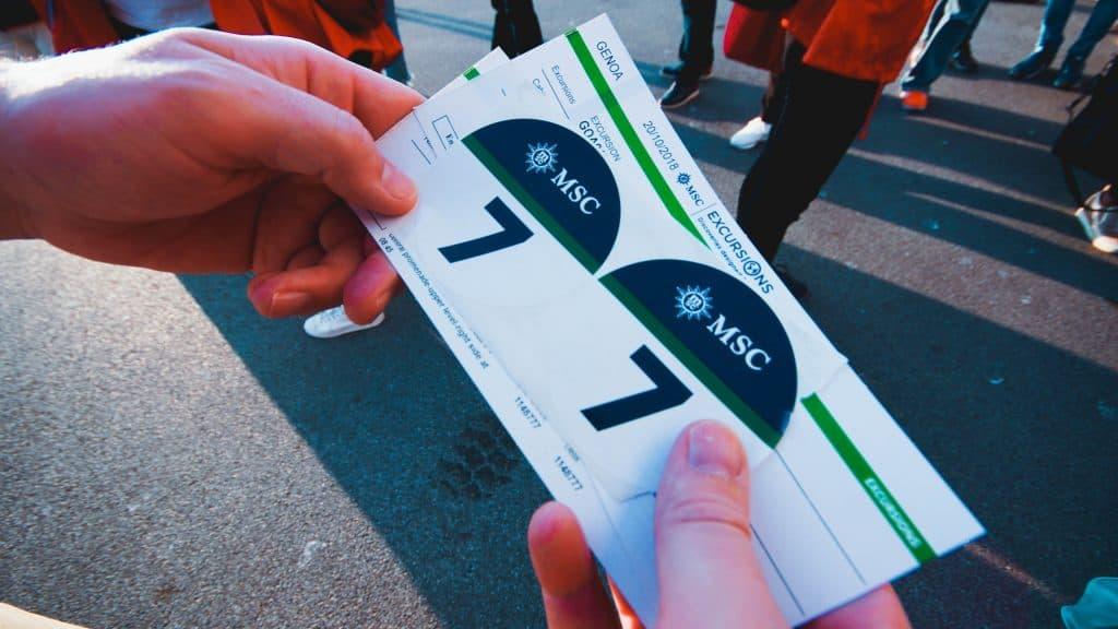 MSC Meraviglia - Shore Excursion tickets