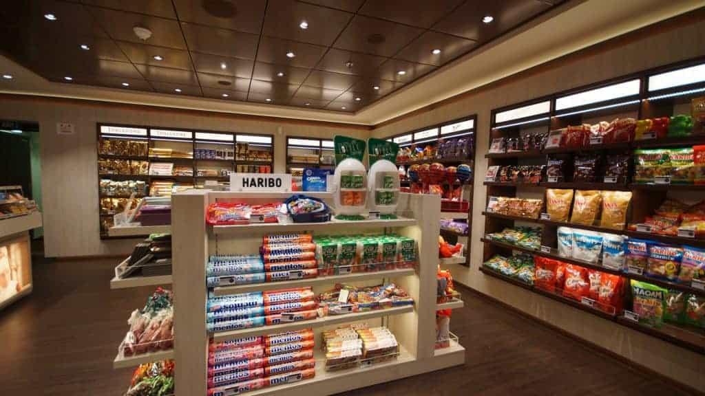 MSC Meraviglia's local shop