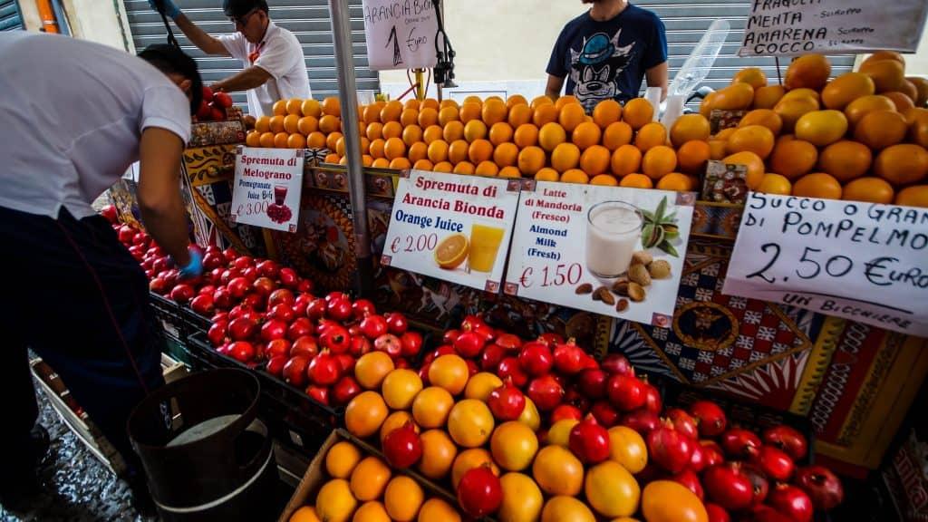 Palermo fresh orange juice