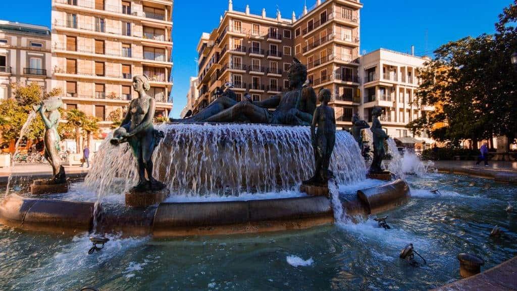 Valencia – Turia Fountain, Virgen Square