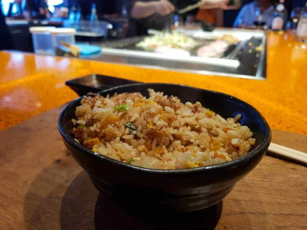 MSC Meraviglia Kaito Teppanyaki – Egg Fried Rice