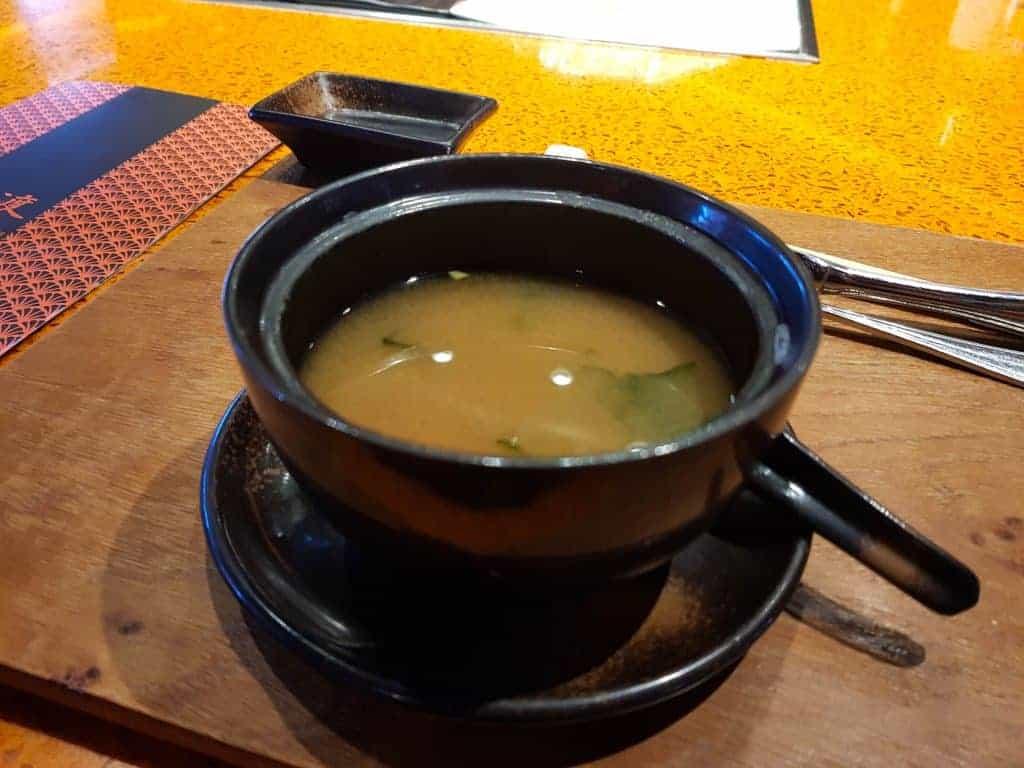 MSC Meraviglia Kaito Teppanyaki – Miso Soup