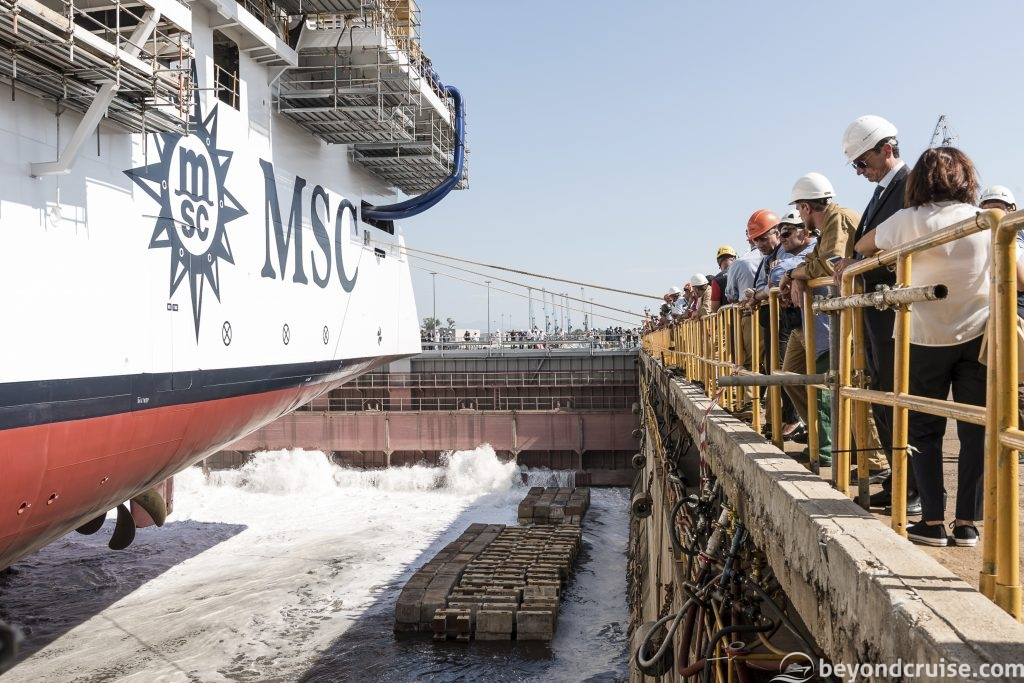 MSC Seaview float-out