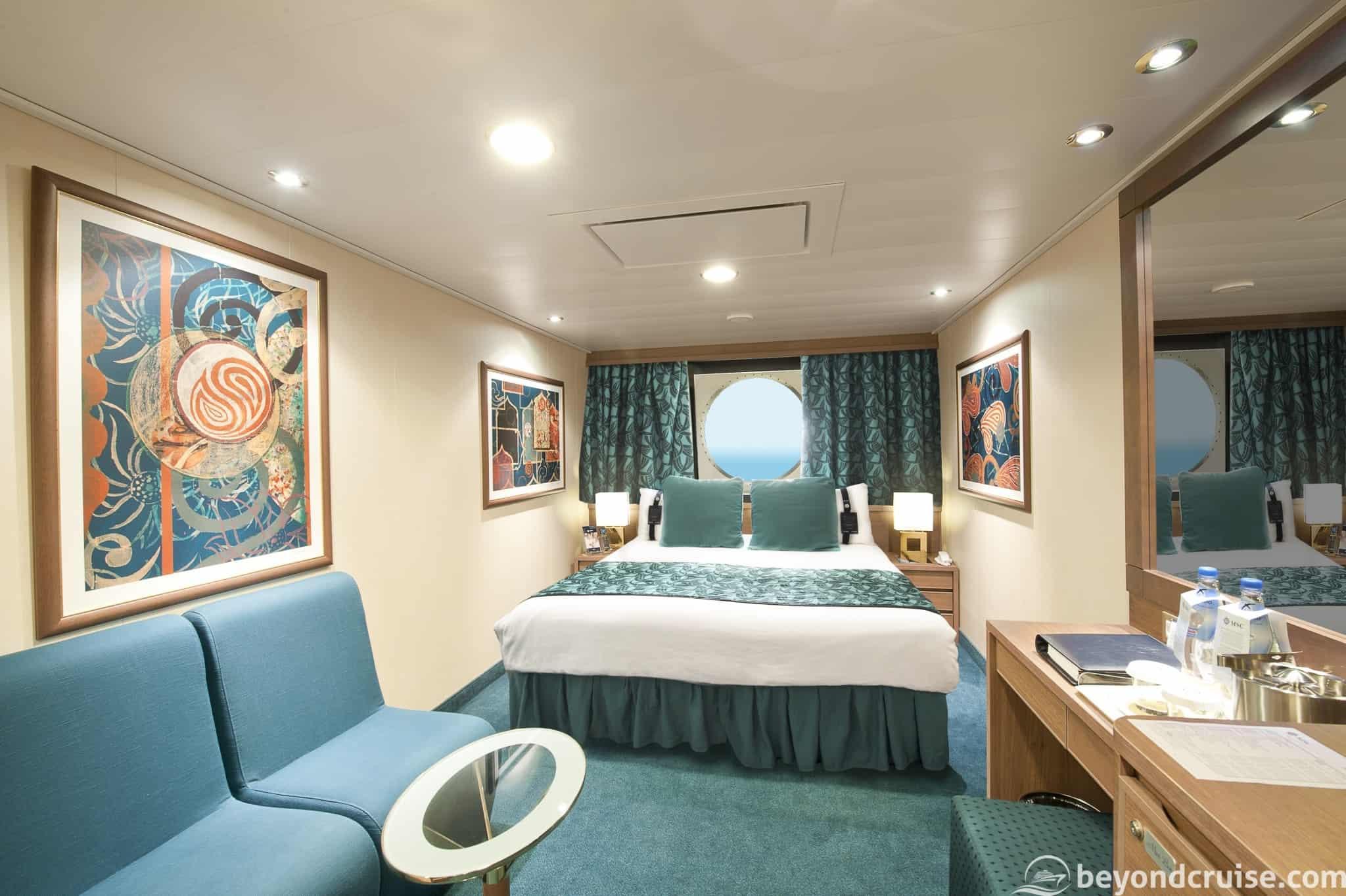 MSC Magnifica Ocean view cabin
