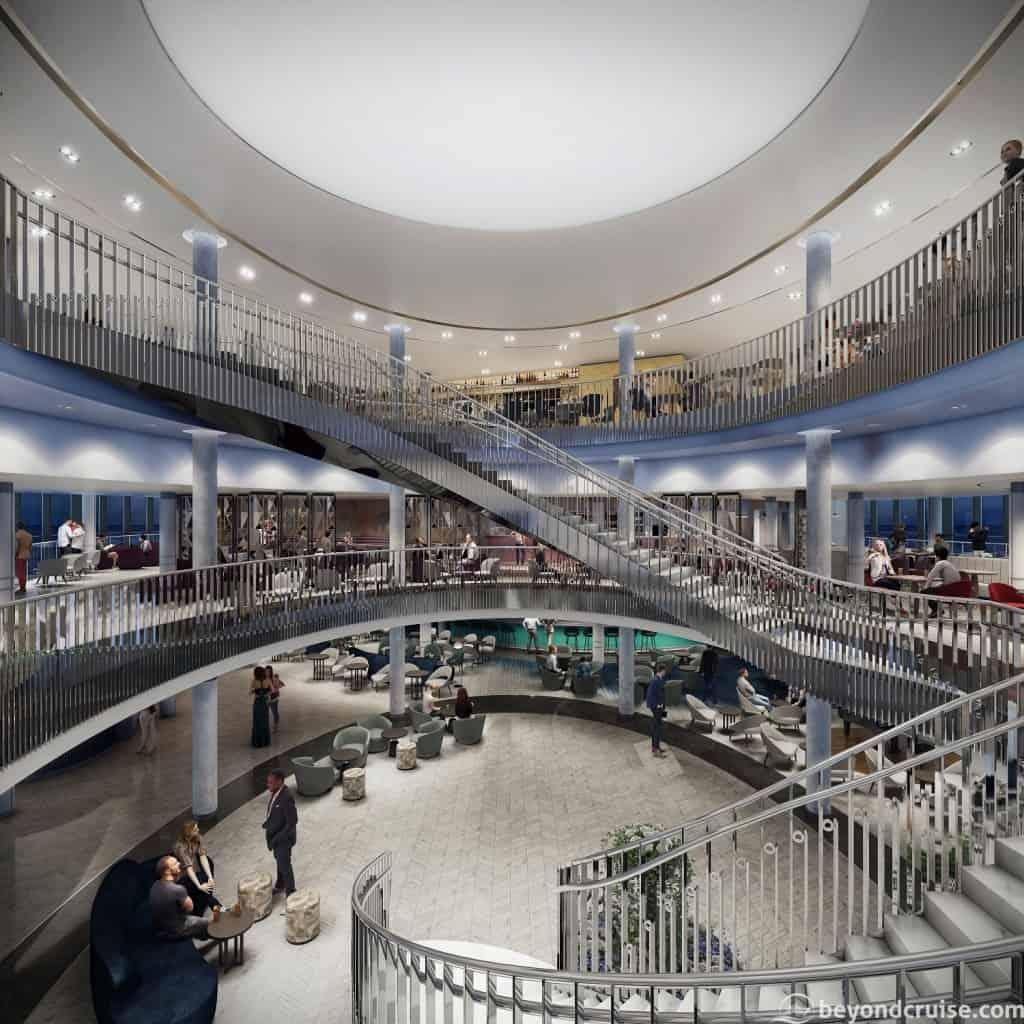 The Grand Atrium at Night, P&O Iona