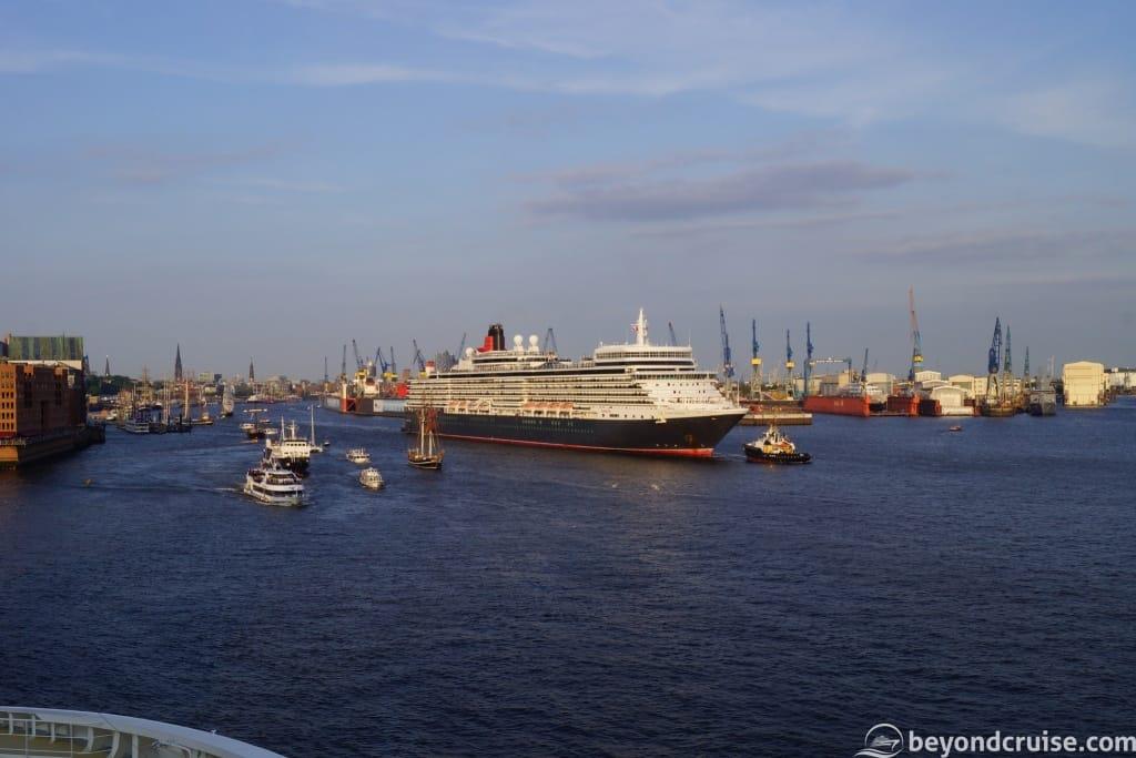 Port of Hamburg 829th Anniversary Queen Elizabeth departure