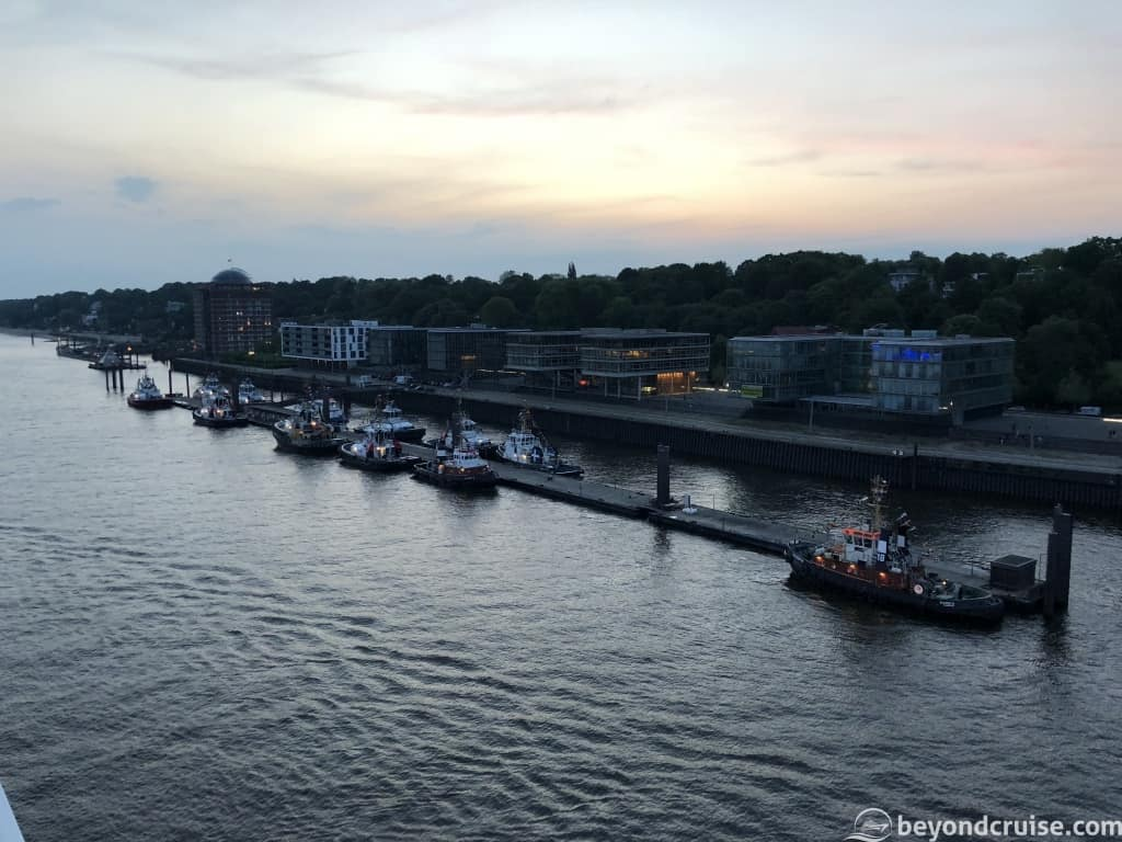 Port of Hamburg tugboat berthing area