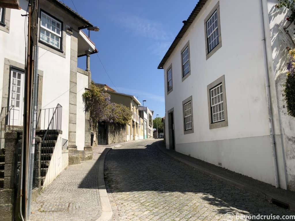 Cobbled streets in Porto