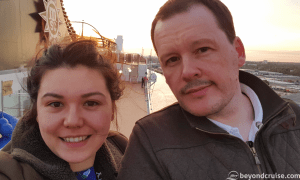 Sara and Chris on MSC Magnifica in May 2018